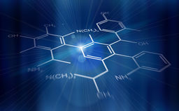 Technology background: chemical formulas Royalty Free Stock Photo