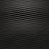 Technology background with circle perforated carbon Stock Photography