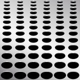 Technology background with circle perforated metal grill texture for internet sites, web user interfaces. Stock Images
