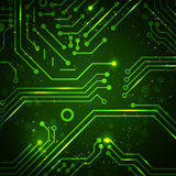 Technology background with circuit board elements. Royalty Free Stock Photos