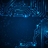 Technology background with circuit board elements. Stock Photos