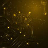 Technology background with circuit board elements. Royalty Free Stock Photo