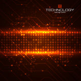 Technology background with circuit boards elements Stock Photo