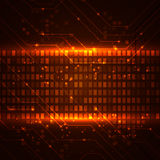 Technology background with circuit boards elements Stock Images