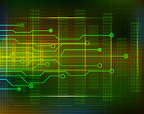 Technology background circuit with lines. Vector Stock Photo