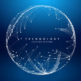Technology background with circular mesh Royalty Free Stock Photography