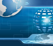 Technology background with Earth globe Royalty Free Stock Photo