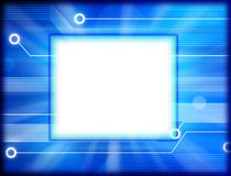 Technology Background Frame. A computer circuit board background frame with  space for type or images Stock Photo