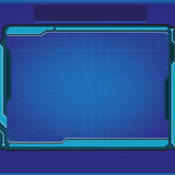 Technology background. Technology frame background in blue tone color Stock Images