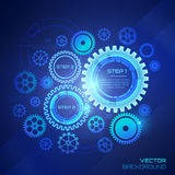 Technology background with gear wheels. Royalty Free Stock Photography