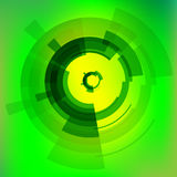Technology background. With green circle Royalty Free Stock Photos