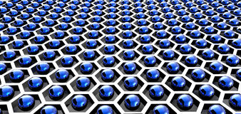 Technology background with hexagons Royalty Free Stock Image