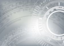 Technology Background high computer technology. Hi-tech digital technology. Vector abstract metallic illustration gear wheel engineering telecoms futuristic Stock Photo