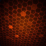 Technology background with honeycomb texture. Royalty Free Stock Image