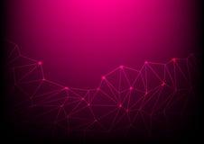 Technology background  illustrator design. Pink Polygon technology background  illustrator design Royalty Free Stock Photo