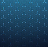 Technology background. Light and dark lines on deep blue background seamless pattern royalty free illustration