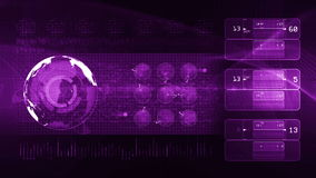 Technology background LOOP purple stock footage