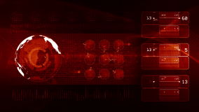 Technology background LOOP red stock footage