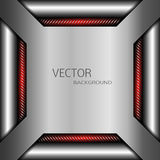 Technology background with metal. Abstract illustration. Vector EPS 10 Stock Images