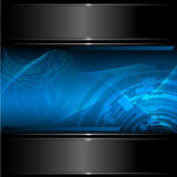 Technology background with metallic banner. Stock Images