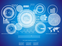 Technology background. Modern virtual technology background with diagram and infographic Stock Illustration