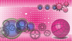 Technology background in pink Stock Image