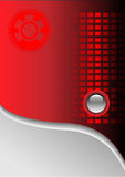 Technology background red and grey. Royalty Free Stock Photography