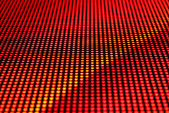 Technology background. Rows of LEDs showing red light. Shallow depth of field for a blurred effect Royalty Free Stock Photos