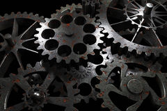 Technology background from rusty metal gears. Royalty Free Stock Photography