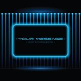 Technology background with space for text. Vector illustration Stock Photo