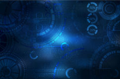 Technology background. Technological elements on sky. illustration with techno element. Royalty Free Stock Images