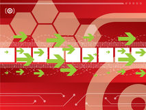Technology background vector Stock Image