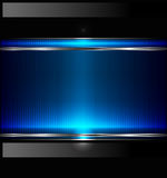 Technology Background With Metallic Banner. Vector Royalty Free Stock Photo