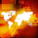 Technology background with world map Stock Photography