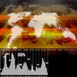 Technology background with world map Royalty Free Stock Photo