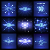 Technology backgrounds. Set of abstract futuristic technology backgrounds vector illustration