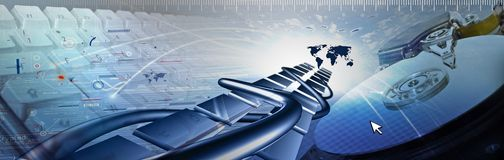 Technology banner Royalty Free Stock Photo