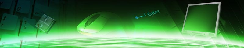 Technology banner. All images are mine shots Royalty Free Stock Photos