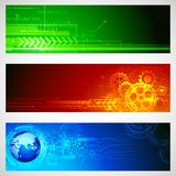 Technology Banner. Illustration of set of technology banner for designing Royalty Free Stock Photography