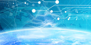 Technology banner. With integrated circuitry Royalty Free Stock Image