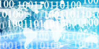 Technology banner. On a blue background Stock Images