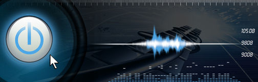 TECHNOLOGY BANNER royalty free stock photos