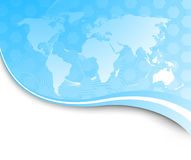 Technology banner with earth map Stock Photo