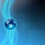 Technology binary background Stock Photography