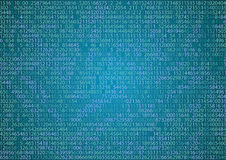 Technology binary background. Binary on blue background Stock Image