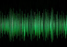 Technology binary background. Binary on green background Royalty Free Stock Photography
