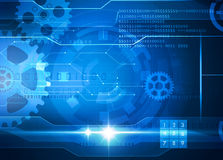 Technology blue background Stock Image