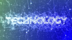 Technology in Blue - Buzzword Concept Animation, Plexus Network