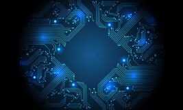 Free Technology Blue Circuit Mainboard Computer Futuristic Background Vector Stock Images - 187636194