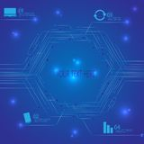 Technology blue variant circuit board . Infographic background for your design and your text . Business background Stock Images